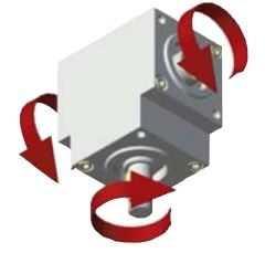 Winkelgetriebe 66/6-D mit 3 Ausgängen